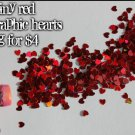 2g bag of tiny  red hearts
