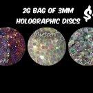 2g bag of iridescent discs