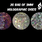2g bag of silver holographic discs