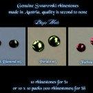 GENUINE SWAROVSKI CRYSTALS SS5 BLACK DIAMOND- 100P