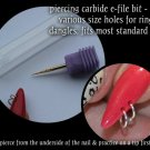 efile bit for piercing nail