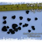 2g bag of tiny heart buttons