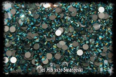 GENUINE SWAROVSKI CRYSTALS SS20 JET AB - 100P