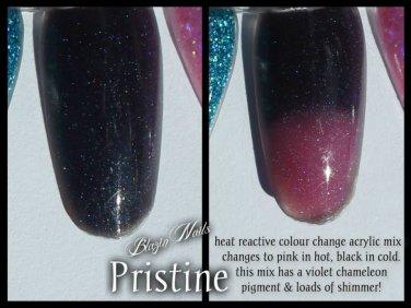 'pristine' glitter acrylic mix colour change