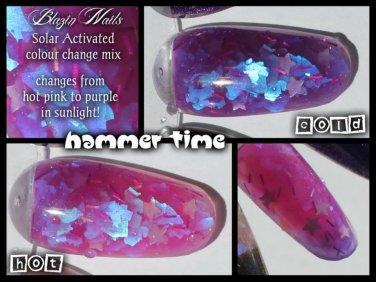 'hammertime' glitter acrylic mix colour change glow