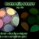 electric glow in the adrk neon acrylic mix - GREEN