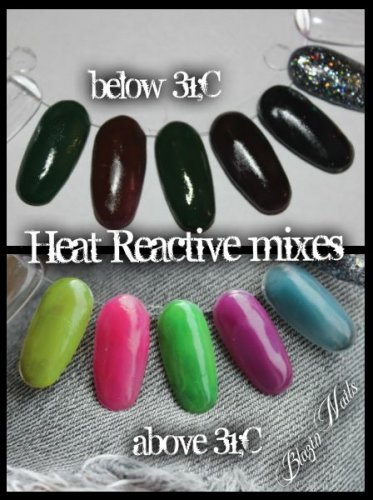 heat reactive colour change acrylic mixes neon - green / black