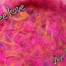 free love - glitter feather acrylic mix
