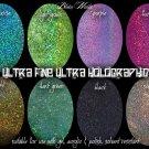 BLACK UF HOLO - glitter mix