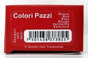 Tec Italy Designer Color, Colori Pazzi Red / Rojo Haircolor 3 oz