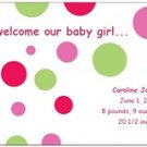 Welcome Our Baby Girl