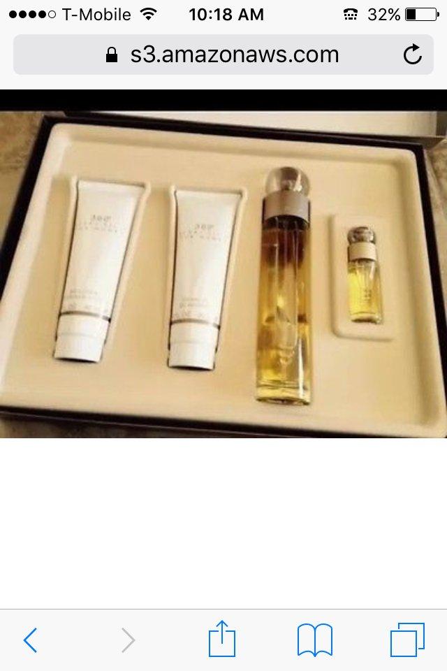 360 degrees for women 4 piece fragrance set by designer perry ellis