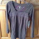 women's top mocha long sleeve size small by Element ^