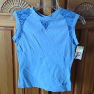 women's blue top with lace size small by Roxy