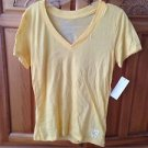 Women's yellow short sleeve v neck top size medium by Roxy