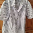 Men's Blue & White Short sleeve shirt size XL by John Asford
