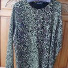 Women's Long Sleeve Gold Print Top Size Medium By Impressions
