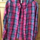 Women's Plaid Long Sleeve Top By Element Size Medium