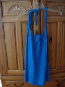 Women's Blue Halter Top by Volcom Size extra small
