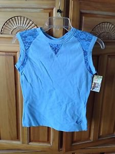 women's blue top with lace size large by Roxy