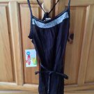 Women's black with beading & belt camisole top size large by Roxy