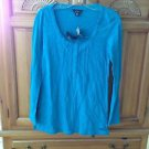 Women's Volcom Turquoise Long Sleeve Shirt Size Extra Small