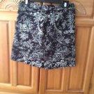 Women's Black Print Skirt Size 8 by E P Pro