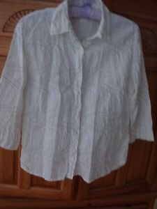Women's Print Blouse Size a Small by 120% Hno