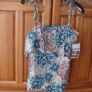 Women's Roxy Print Top Camisoke with Zipper back Size Medium