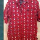 Fubu Sports Young Men's Short Sleeve Shirt Size 16-18 Red, Black , White