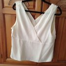 Women's Cream 100% Silk Camisole Top Size Extra Large ^