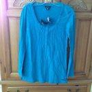 Women's Volcom Turquoise Long Sleeve Shirt Size Medium
