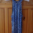 Women's Blue & White Top Size Medium by Ann Taylor