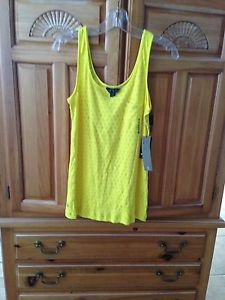 women's yellow tank top by Volcom size small