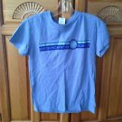 roxy short sleeve blue top size small