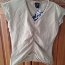 Women's Tan Stretchy Top by Lost Size Large