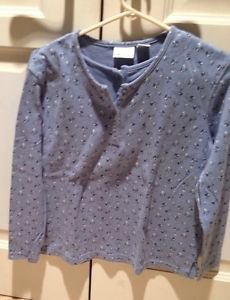 Bobbie Brooks Long Sleeve Blue Print Shirt Size Small
