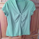 Womens Light Green Short Sleeve Top By George Size Medium