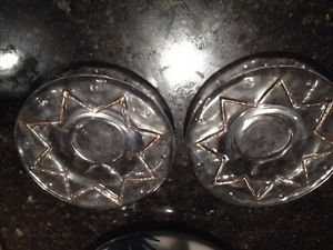 set of 2 decorative glass plates
