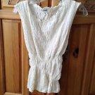 Women's cream bubble sleeveless top size large by Billabong