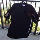 Velour Short Sleeve Size Large Shirt By Run Athletics Black And White