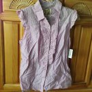 Women's candy cane striped sleeveless blouse size large by billabong