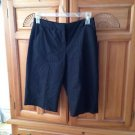 Womens Black Pinstripe Shorts Size 6 by Alfani