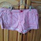 Women's pin stripe shorts size 9 billabong