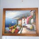 "Feel like you're on the Italian riviera mediterranean painting Rossini 43"" X 56"""