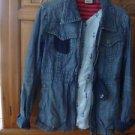 Women's Volcom Zippered Denim Jacket Size Large