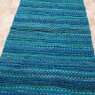 """Turquoise Altair Peacock 24"""" X 40"""" Accent Rug or wall hanging"""
