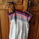 roxy girl red white blue camisole top size medium