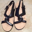 Black Strappy Woman's Sandals Size 10