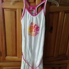 Roxy Girl White Dress With Pink Tie Size Large
